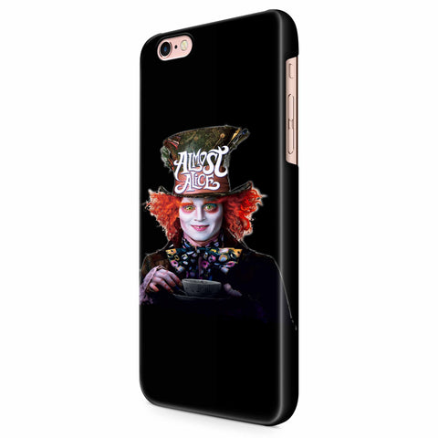 Almost Alice The Mad Hatter iPhone 6/6S/6S Plus | 7/7S/7S Plus | 8/8S/8S Plus| X/XS/XR/XS Max 3D Case