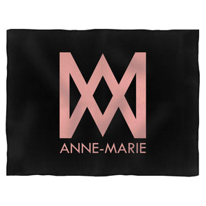 Anne Marie Logo Text Blanket
