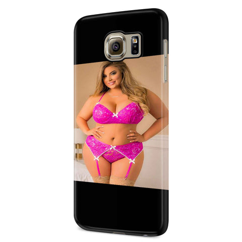 Ashley Alexiss With Pink Sports Bra Samsung Galaxy S6 S6 Edge Plus/ S7 S7 Edge / S8 S8 Plus / S9 S9 plus 3D Case