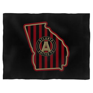 Atlanta United Maps Blanket