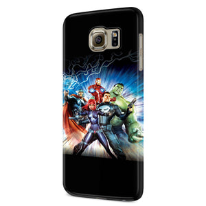 Avengers Confidential Black Widow & Punisher Samsung Galaxy S6 S6 Edge Plus/ S7 S7 Edge / S8 S8 Plus / S9 S9 plus 3D Case