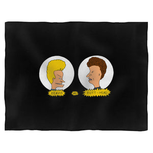 Beavis And Butthead Hair Skull Blanket