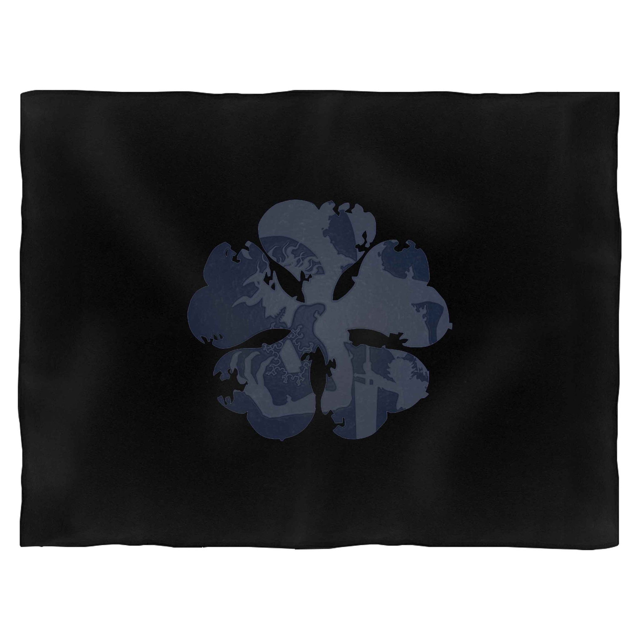 Black Clover  Asta Demon 5 Leaf Dark Blanket
