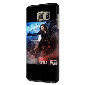 Black Widow Civil War Samsung Galaxy S6 S6 Edge Plus/ S7 S7 Edge / S8 S8 Plus / S9 S9 plus 3D Case
