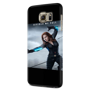 Black Widow Divided We Fall Samsung Galaxy S6 S6 Edge Plus/ S7 S7 Edge / S8 S8 Plus / S9 S9 plus 3D Case