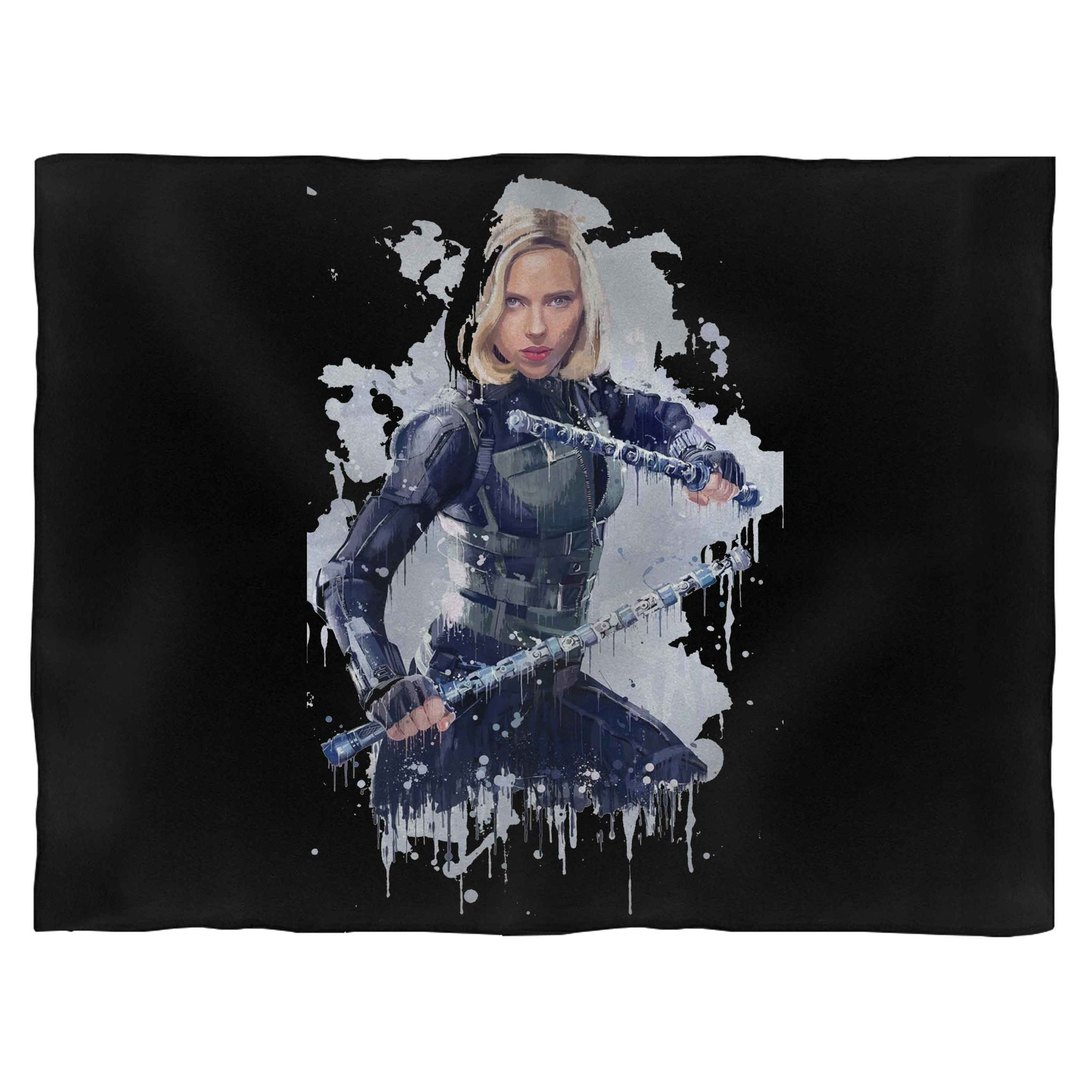 Black Widow Weapon Art Blanket