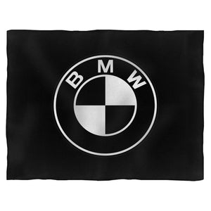 Bmw Black White Emblem Logo Blanket