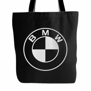 Bmw Black White Emblem Logo Tote Bag