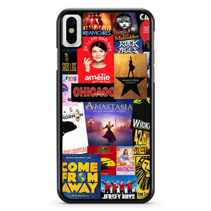 Broadway Musical Collage iPhone X / XS / XR / XS Max Case