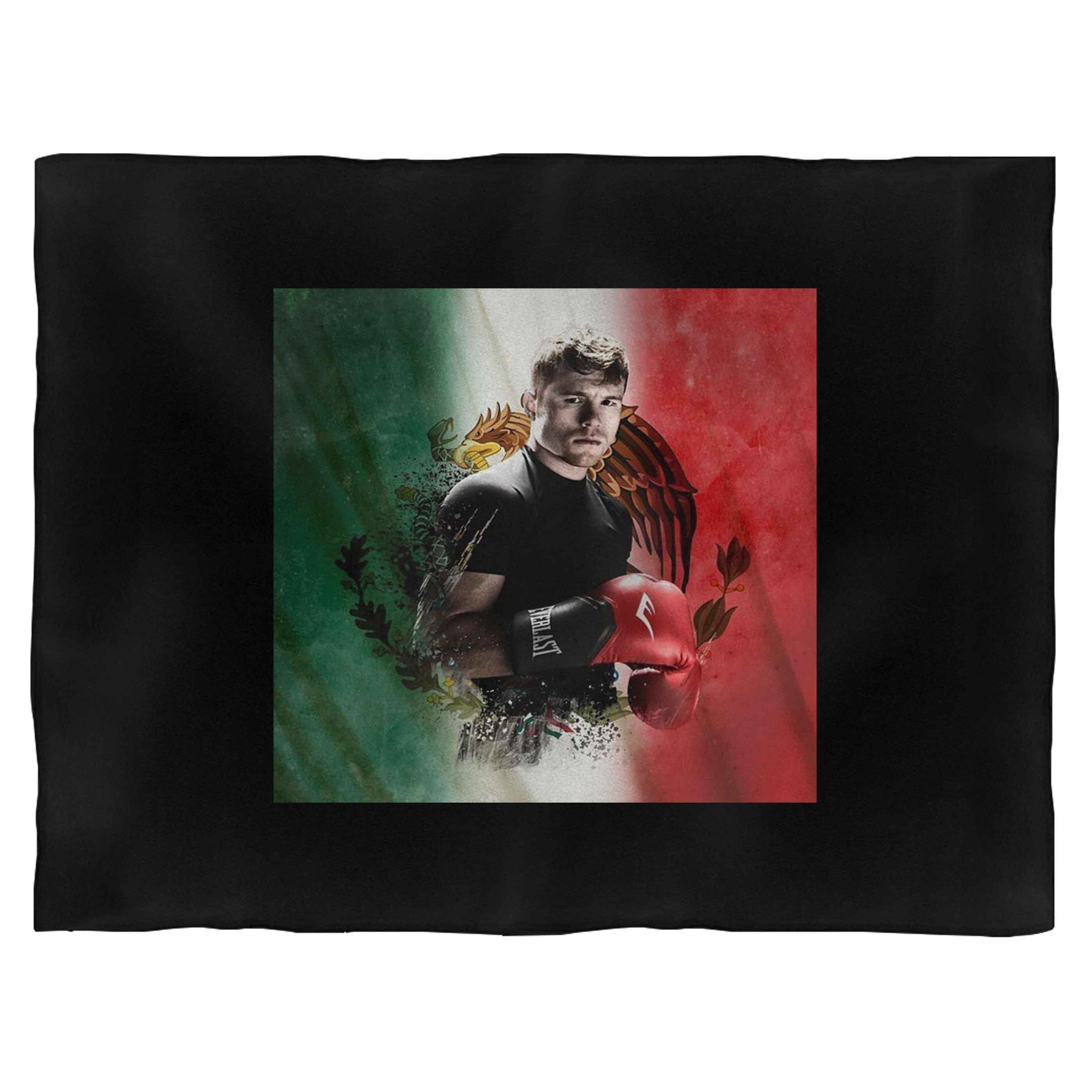 Canelo Alvarez With Flag Boxing Blanket