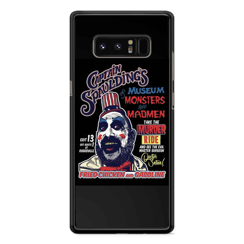 Captain Spaulding Museum Of Monster Samsung Galaxy Note 7 /Note 8 / Note 9 Case