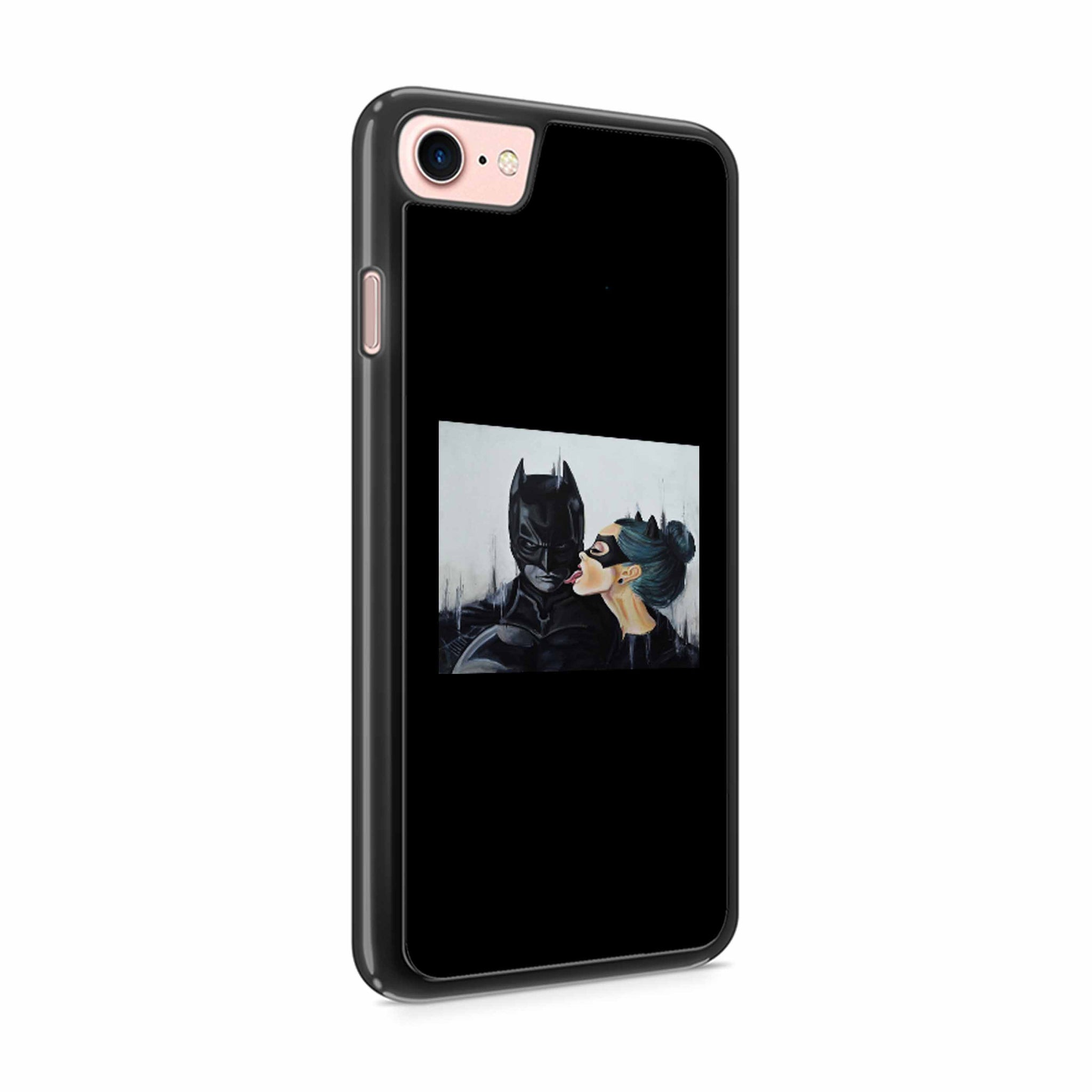 Catwoman Licking Batman Sexy Superheros iPhone 8 / 8 Plus Case