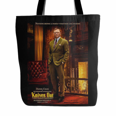 Daniel Craig Knives Out Tote Bag