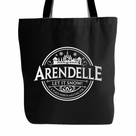 Disney Frozen Arendele Let It Snow Tote Bag