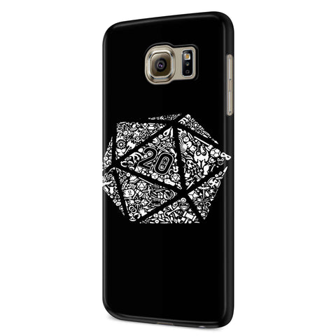 Dungeons And Dragons Dice Samsung Galaxy S6 S6 Edge Plus/ S7 S7 Edge / S8 S8 Plus / S9 S9 plus 3D Case