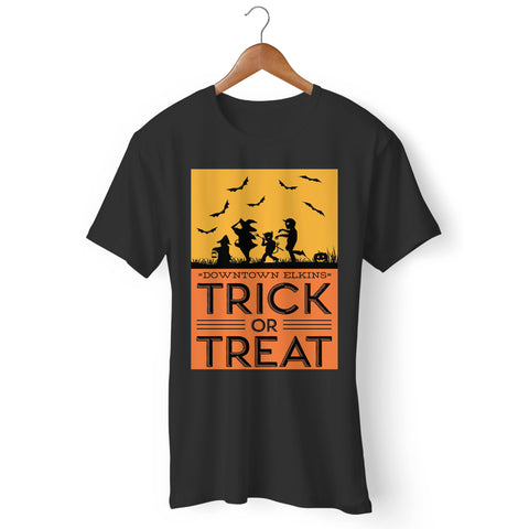 Elkins Main Street Downtown Trick Or Treat Man's T-Shirt