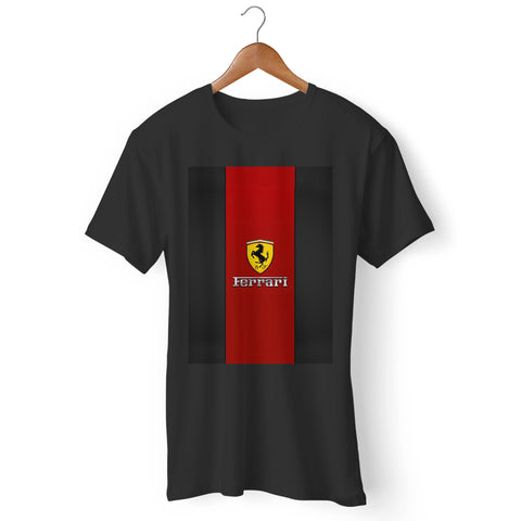 Ferrari Logo Red Design Man's T-Shirt