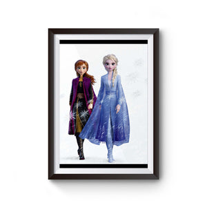 Frozen 2 Elsa And Anna Cover Poster