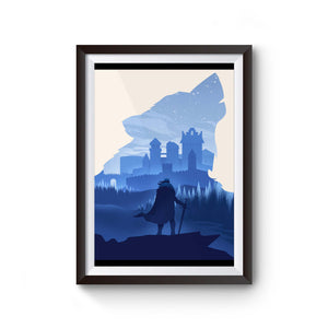 Game Of Thrones Stark Winterfell Wolf Poster
