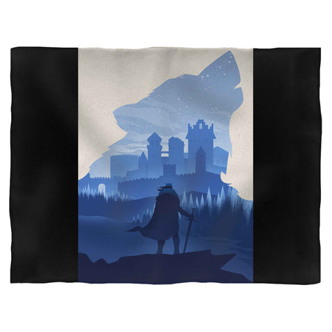Game Of Thrones Stark Winterfell Wolf Blanket