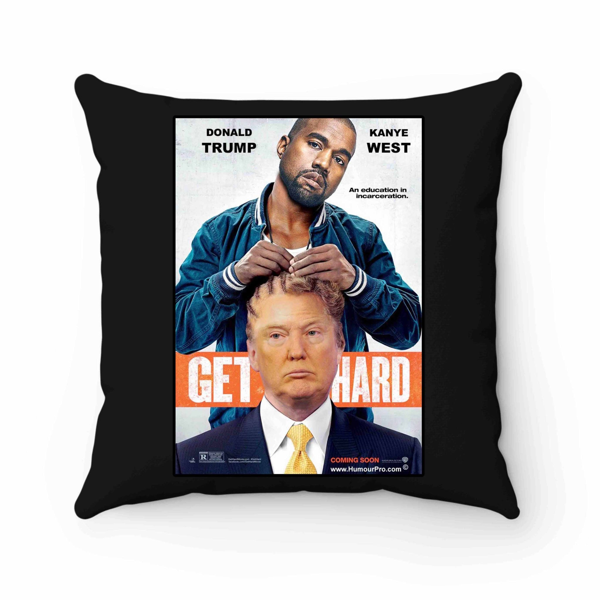 Get Hard Kanye West Donald Trump Pillow Case Cover