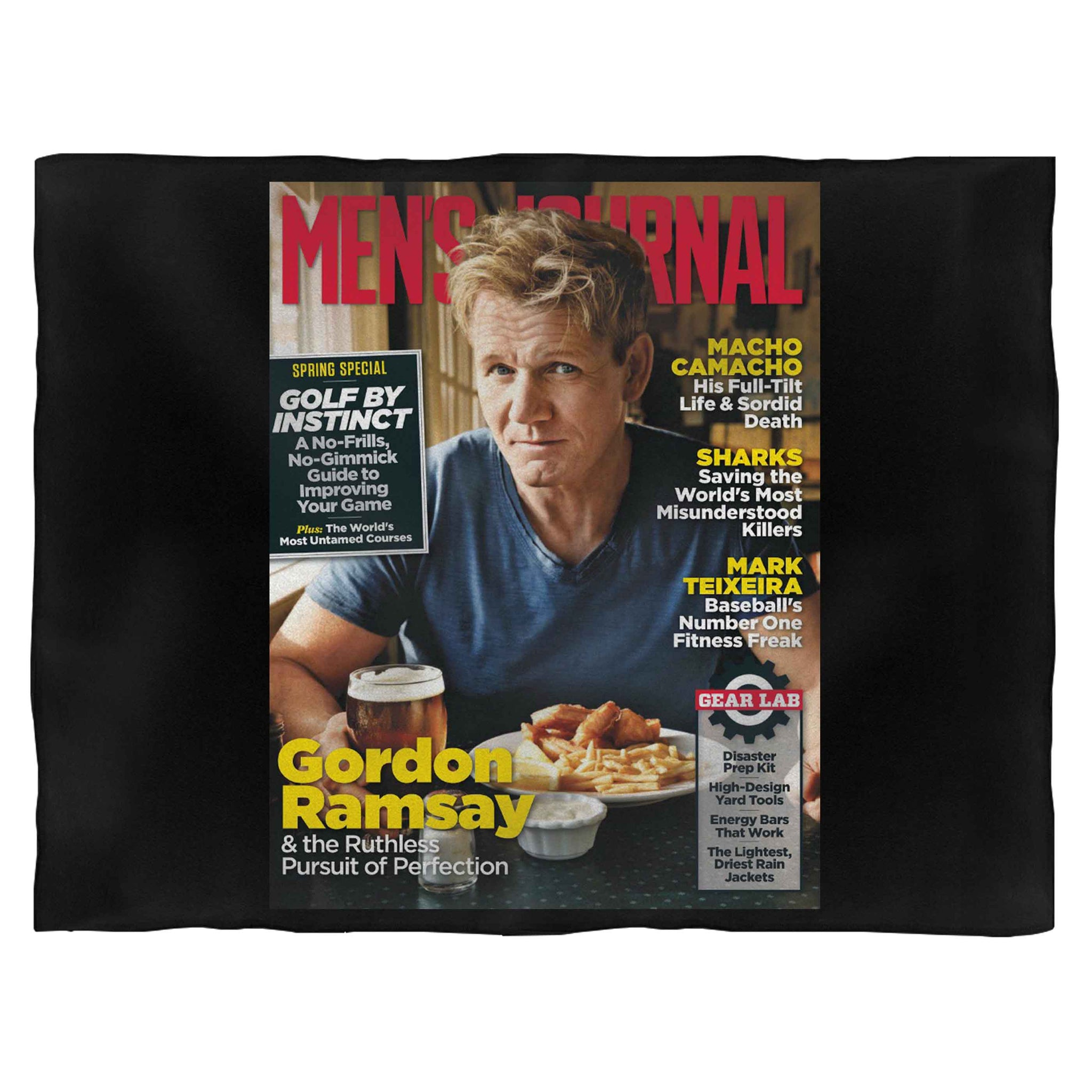 Gordon Ramsey Vogue Magazine Blanket
