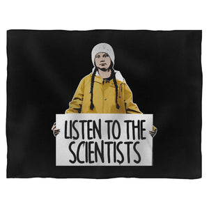 Greta Thunberg Listen To The Scientists Blanket