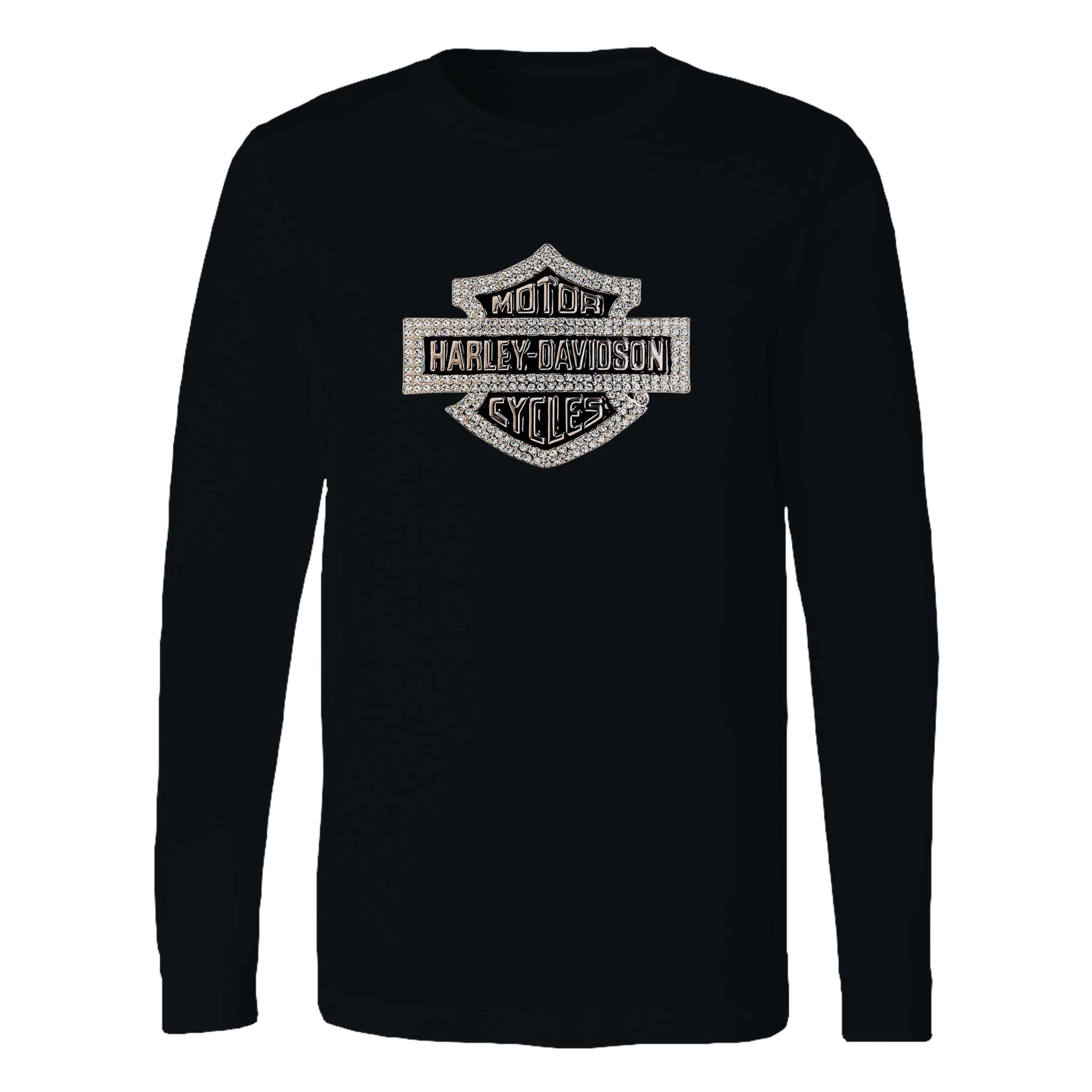 Harley Davidson Logo Sparkle Long Sleeve T-Shirt