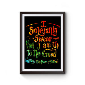 Harry Potter Solemnly Swear Glitter Rainbow Poster