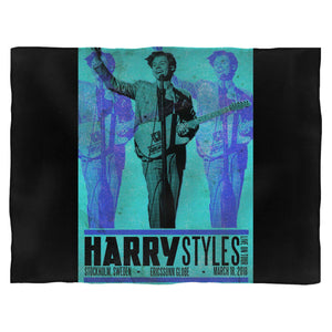 Harry Styles Tour In Stockholm, Sweden Blanket