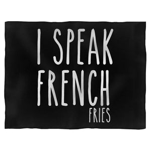 I Speak French Fries Blanket