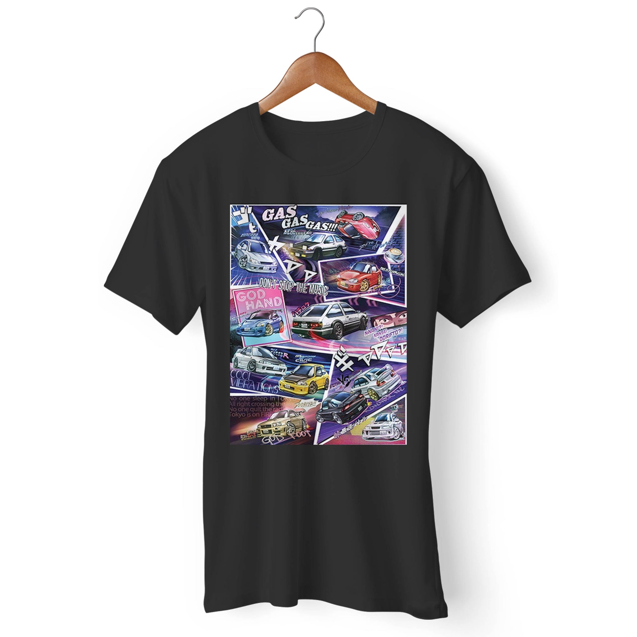 Initial D Manga Styled Car Man's T-Shirt