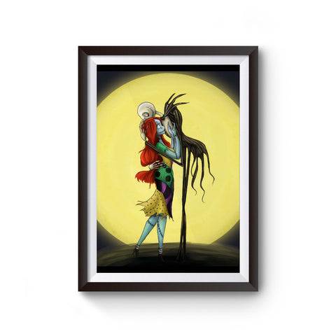 Jack And Sally Loving Kiss Poster