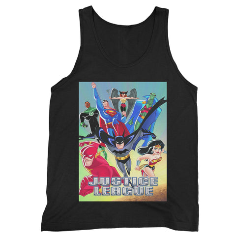 Justice League Animated Series Man's Tank Top