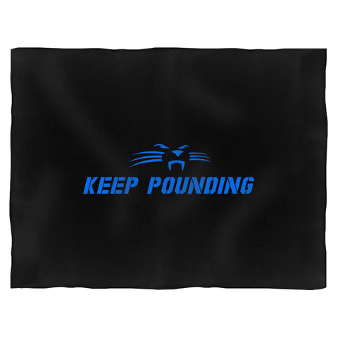 Keep Pounding Carolina Panthers Slogan Blanket