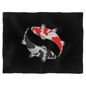 Koi Fish Yin And Yang Blanket