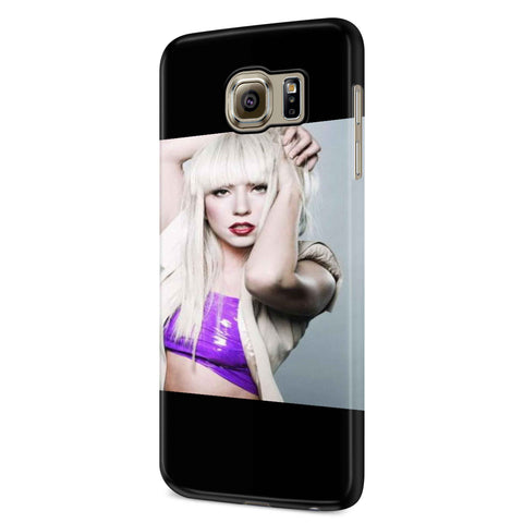 Lady Gaga In Red Lips And Purple Dress Samsung Galaxy S6 S6 Edge Plus/ S7 S7 Edge / S8 S8 Plus / S9 S9 plus 3D Case