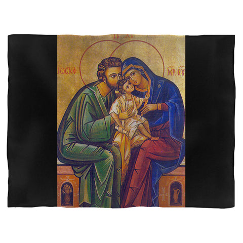 Love In The Ruins Holy Family Blanket