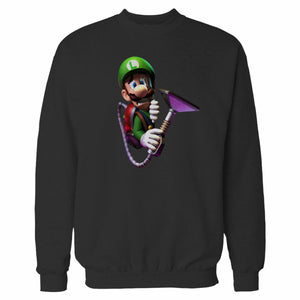 Luigi's Scared Face Sweatshirt