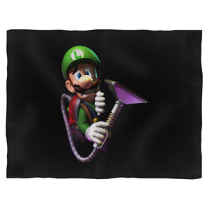 Luigi's Scared Face Blanket