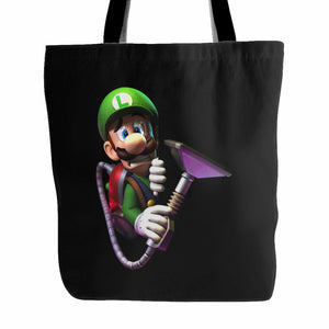 Luigi's Scared Face Tote Bag