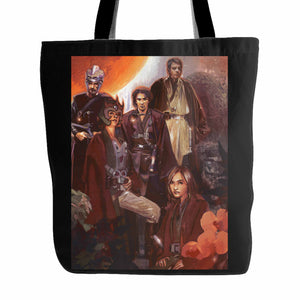Luke With Jedi Star Wars Tote Bag