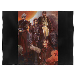 Luke With Jedi Star Wars Blanket