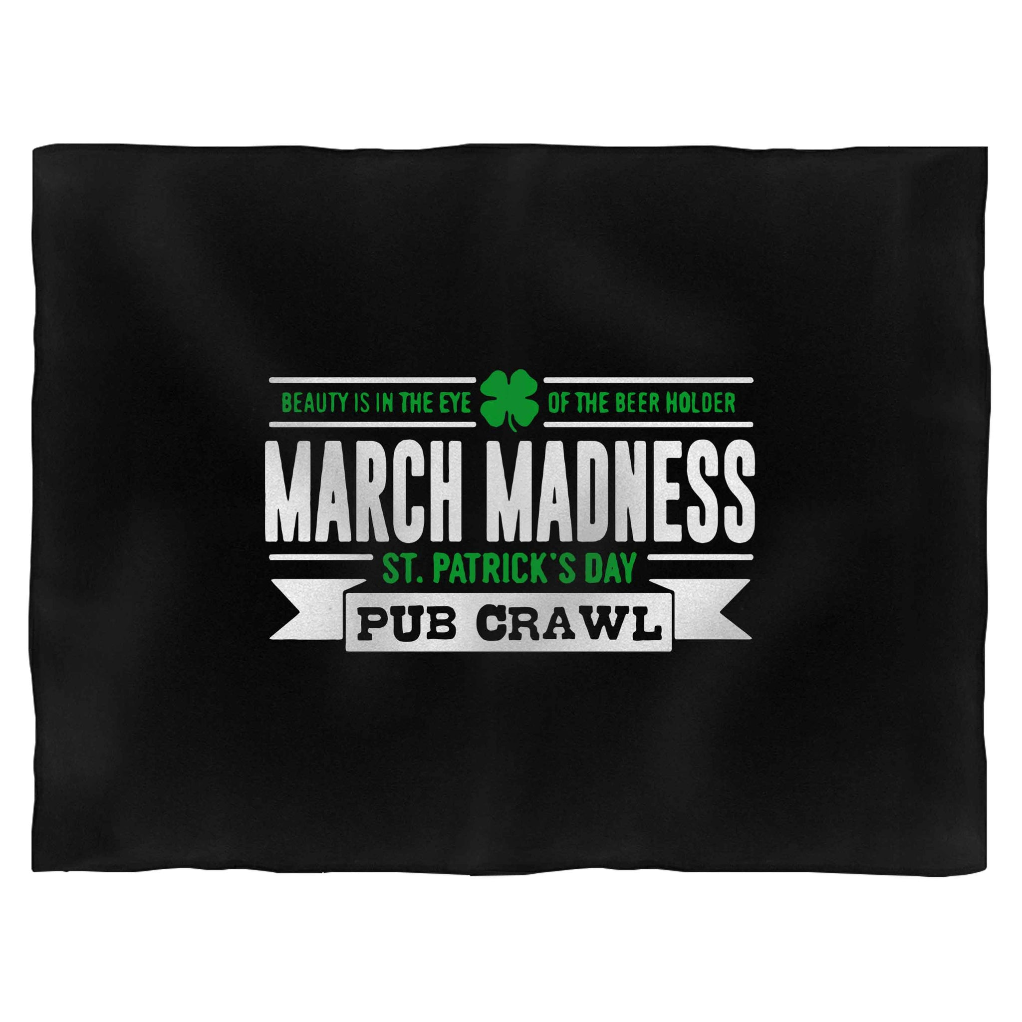 March Madness St. Patrick's Day Pub Crawl Blanket
