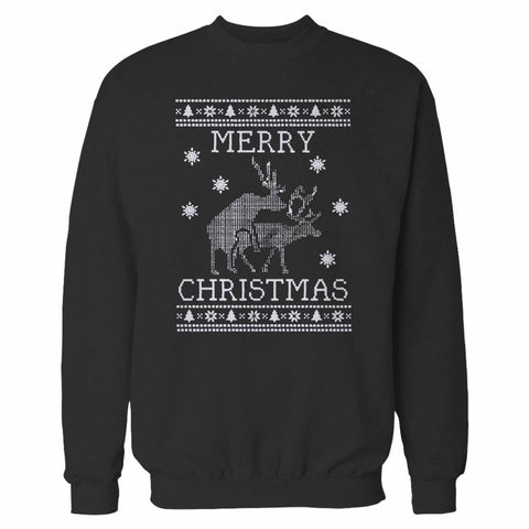 Merry Christmas Santa Deer Sweatshirt