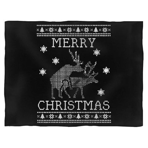Merry Christmas Santa Deer Blanket