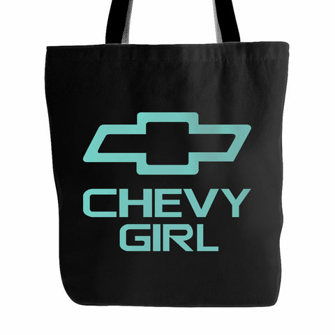 Mint Chevy Girl Tote Bag