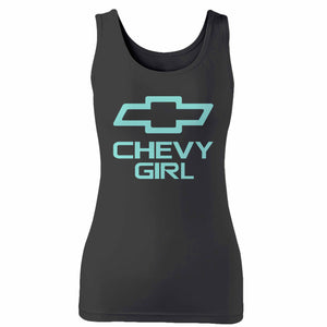 Mint Chevy Girl Woman's Tank Top