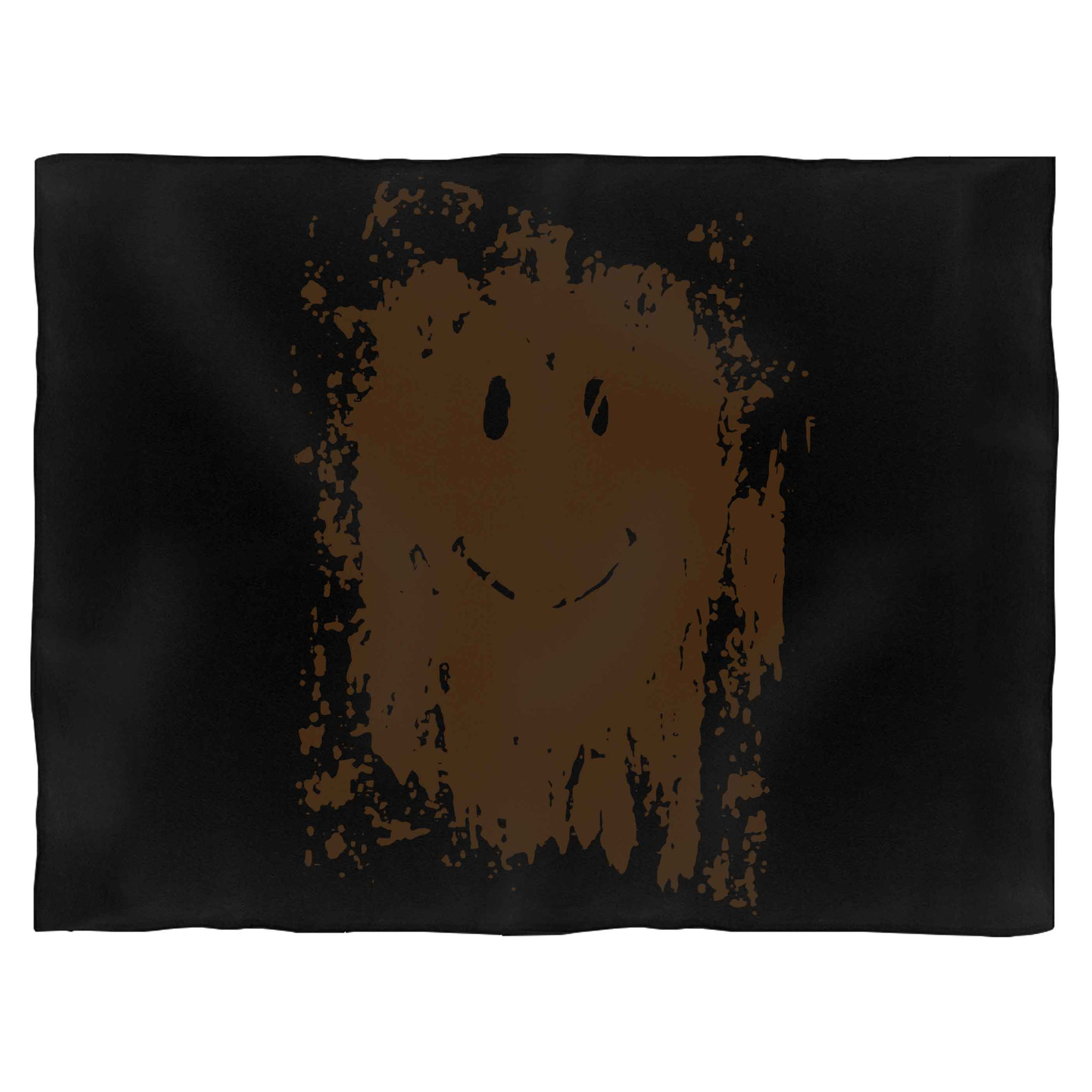 Muddy Smiley Face Forrest Gump Movie Blanket
