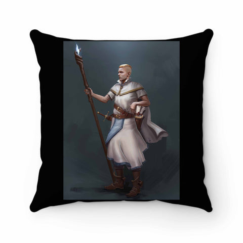 Nicolas Barbas Gildart Human Wizard Pillow Case Cover